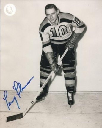 "Feme Flaman Autographed Boston Bruins 8"" x 10"" Photograph Hall of Famer (Unframed)"