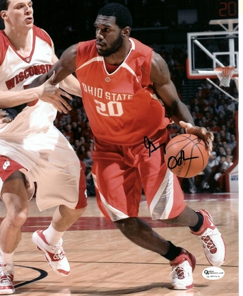 """Greg Oden Autographed Ohio State Buckeyes 8"""" x 10"""" Photograph (Unframed)"""