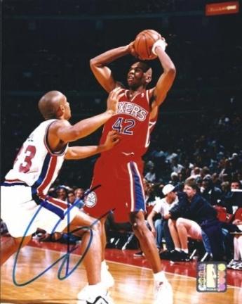 "Jerry Stackhouse Autographed Philadelphia 76ers 8"" x 10"" Photograph (Unframed)"