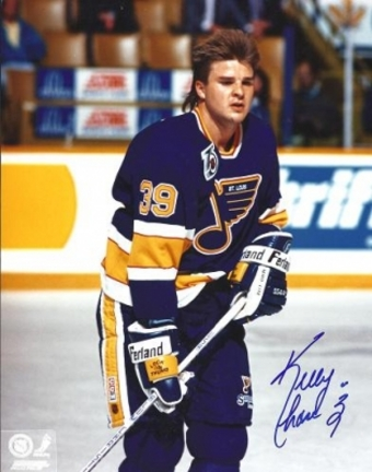 """Kelly Chase Autographed St. Louis Blues 8"""" x 10"""" Photograph (Unframed)"""