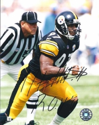 Kendrell Bell Autographed Pittsburgh Steelers 8