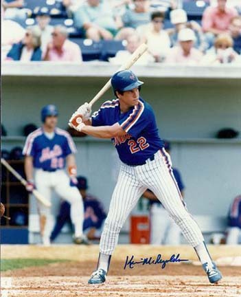 """Kevin McReynolds Autographed New York Mets 8"""" x 10"""" Photograph (Unframed)"""