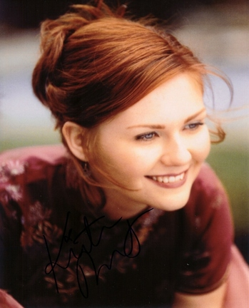 "Kirsten Dunst Autographed 8"""" x 10"""" Photograph (Unframed)"" RDM-KIRSTENDUNST8X10"