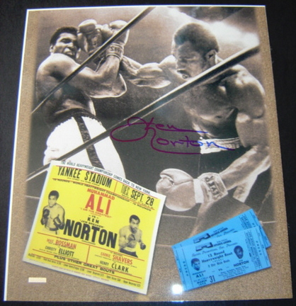 "Ken Norton Autographed ""Fight with Muhammad Ali"" 11"" x 14"" Photograph (Unframed)"