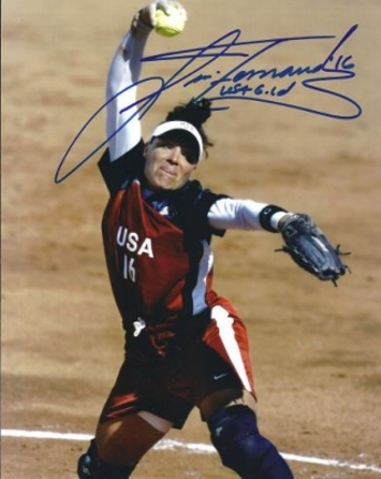 "Lisa Fernandez Autographed Softball 8"" x 10"" Photograph (Unframed)"