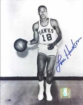 "Lou Hudson Autographed St. Louis Hawks 8"" x 10"" Photograph Georgia Hall of Famer (Unframed)"