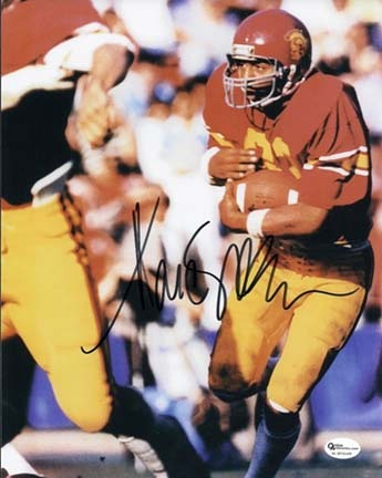 "Marcus Allen ""Holding Ball"" Autographed USC Trojans 8"" x 10"" Photograph 1981 Heisman Trophy Winner ("