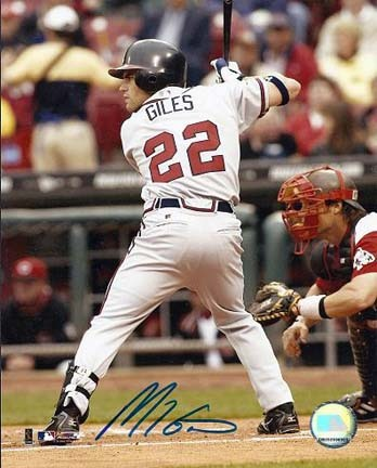 "Marcus Giles Autographed Atlanta Braves 8"" x 10"" Photograph (Unframed)"