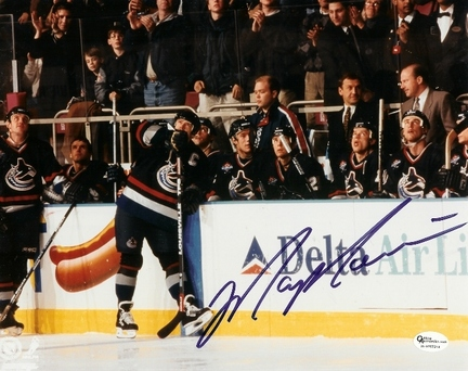 "Mark Messier ""Black Jersey"" Autographed Vancouver Canucks 8"" x 10"" Photograph (Unframed)"