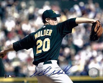 "Mark Mulder Autographed Oakland A's 8"" x 10"" Photograph (Unframed)"