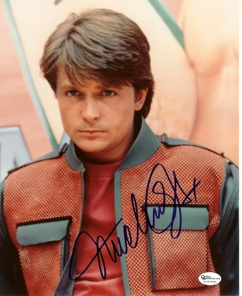 """Michael J. Fox Autographed """"Back to the Future"""" 8"""" x 10"""" Photograph (Unframed)"""