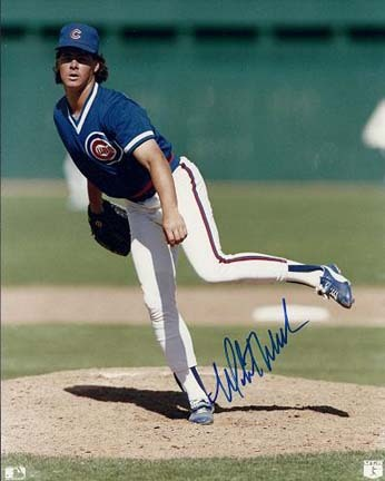 """Mitch Williams Autographed Chicago Cubs 8"""" x 10"""" Photograph (Unframed)"""