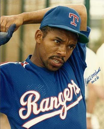 "Oddibe McDowell Autographed Texas Rangers 8"" x 10"" Photograph (Unframed)"