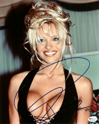 "Pam Anderson Autographed 8"" x 10"" Photograph (Unframed)"