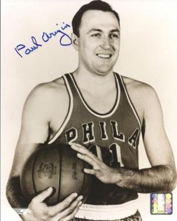 "Paul Arizin Autographed Philadelphia 76ers 8"" x 10"" Photograph (Unframed)"