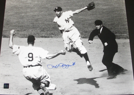 "Phil Rizzuto Autographed New York Yankees 16"""" x 20"""" Action Photograph (Unframed)"" RDM-PRIZZUTO16X20NOARM"