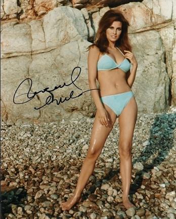 "Raquel Welch ""On Beach"" Autographed 8"" x 10"" Photograph (Unframed)"