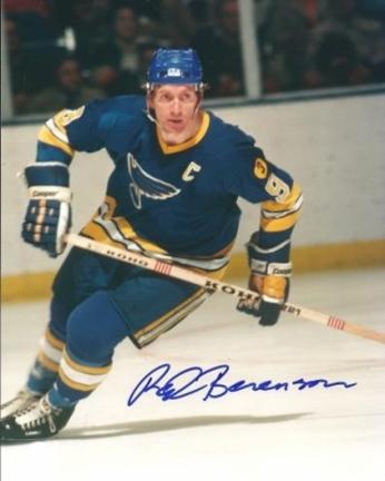 "Red Berenson Autographed St Louis Blues 8"" x 10"" Photograph (Unframed)"