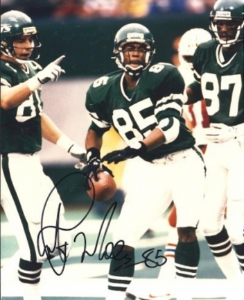 "Rob Moore Autographed New York Jets 8"" x 10"" Photograph (Unframed)"