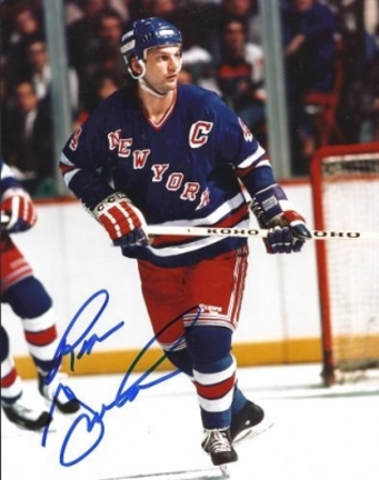 "Ron Greshner Autographed New York Rangers 8"" x 10"" Photograph (Unframed)"