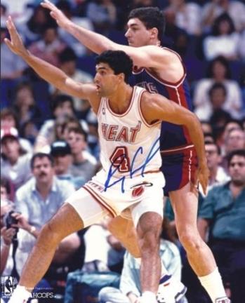 """Rony Seikaly Autographed Miami Heat 8"""" x 10"""" Photograph (Unframed)"""