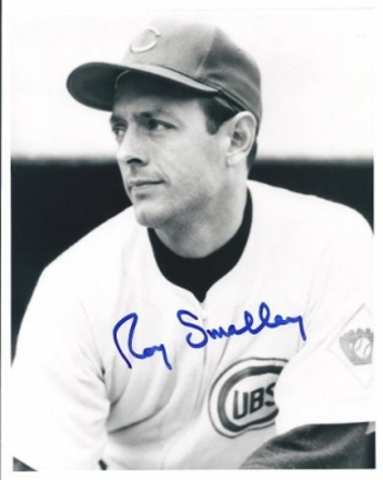 Roy Smalley Autographed Chicago Cubs 8