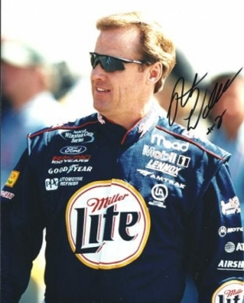 """Rusty Wallace Autographed Racing 8"""" x 10"""" Photograph (Unframed)"""