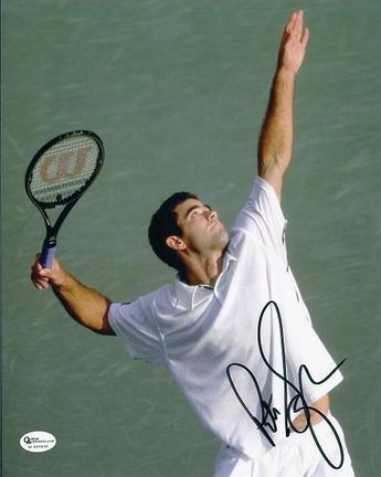 "Pete Sampras Autographed Tennis 8"" x 10"" Action Photograph (Unframed)"