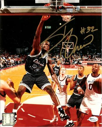 "Shaquille O'Neal Autographed Orlando Magic 8"" x 10"" Photograph (Unframed)"