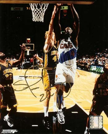 "Shawn Kemp Autographed Cleveland Cavaliers 8"" x 10"" Photograph (Unframed)"
