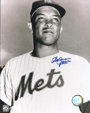 """Sherman Jones Autographed New York Mets 8"""" x 10"""" Photograph (Deceased) (Unframed)"""
