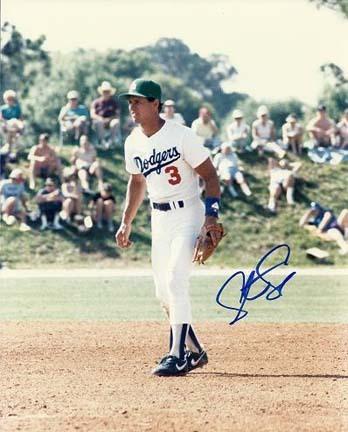 "Steve Sax Autographed Los Angeles Dodgers 8"" x 10"" Photograph (Unframed)"