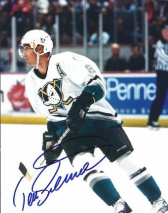 Teemu Selanne 'Action' Autographed Anaheim Ducks 8 x 10 inch Photograph (Unframed)