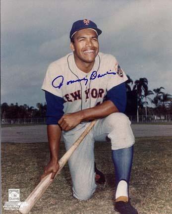 "Tommy Davis Autographed New York Mets 8"" x 10"" Photograph (Unframed)"
