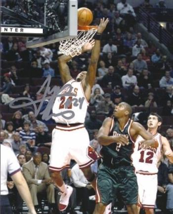 "Tyrus Thomas Autographed Chicago Bulls 8"" x 10"" Photograph (Unframed)"