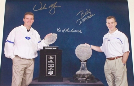"""Urban Meyer and Billy Donovan Signed Florida Gators 16"""" x 20"""" Photograph with """"Year of the Gator"""" In"""
