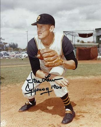 "Vern Law Autographed Pittsburgh Pirates 8"" x 10"" Photograph with ""CY YOUNG 1960"" Inscription (Unfram"