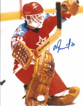 "Vladislav Tretiak Autographed Montreal Canadiens 8"" x 10"" Photograph Hall of Famer (Unframed)"