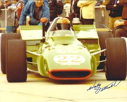 """Wally Dallenbach Autographed Racing 8"""" x 10"""" Photograph (Unframed)"""