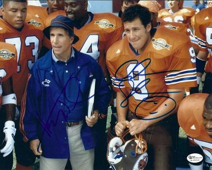 "Henry Winkler and Adam Sandler Autographed ""Waterboy"" Cast 8"" x 10"" Photograph (Unframed)"