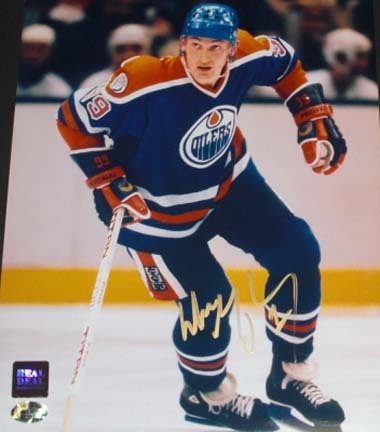 "Wayne Gretzky Autographed Edmonton Oilers 8"" x 10"" Action Photograph Stanley Cup Champs (Unframed)"