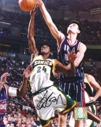 "Yao Ming Autographed Houston Rockets 8"" x 10"" Photograph (Unframed)"