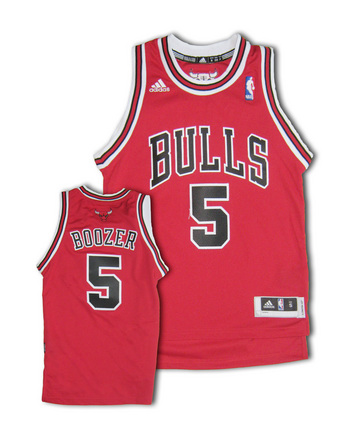Carlos Boozer Chicago Bulls #5 Youth Revolution 30 Swingman Adidas NBA Basketball Jersey (Road Red)