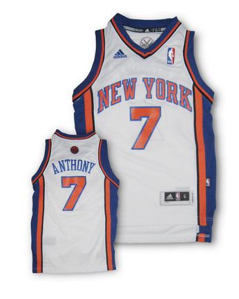 Carmelo Anthony New York Knicks 7 Youth Revolution 30 Replica Adidas NBA Basketball Jersey Home White
