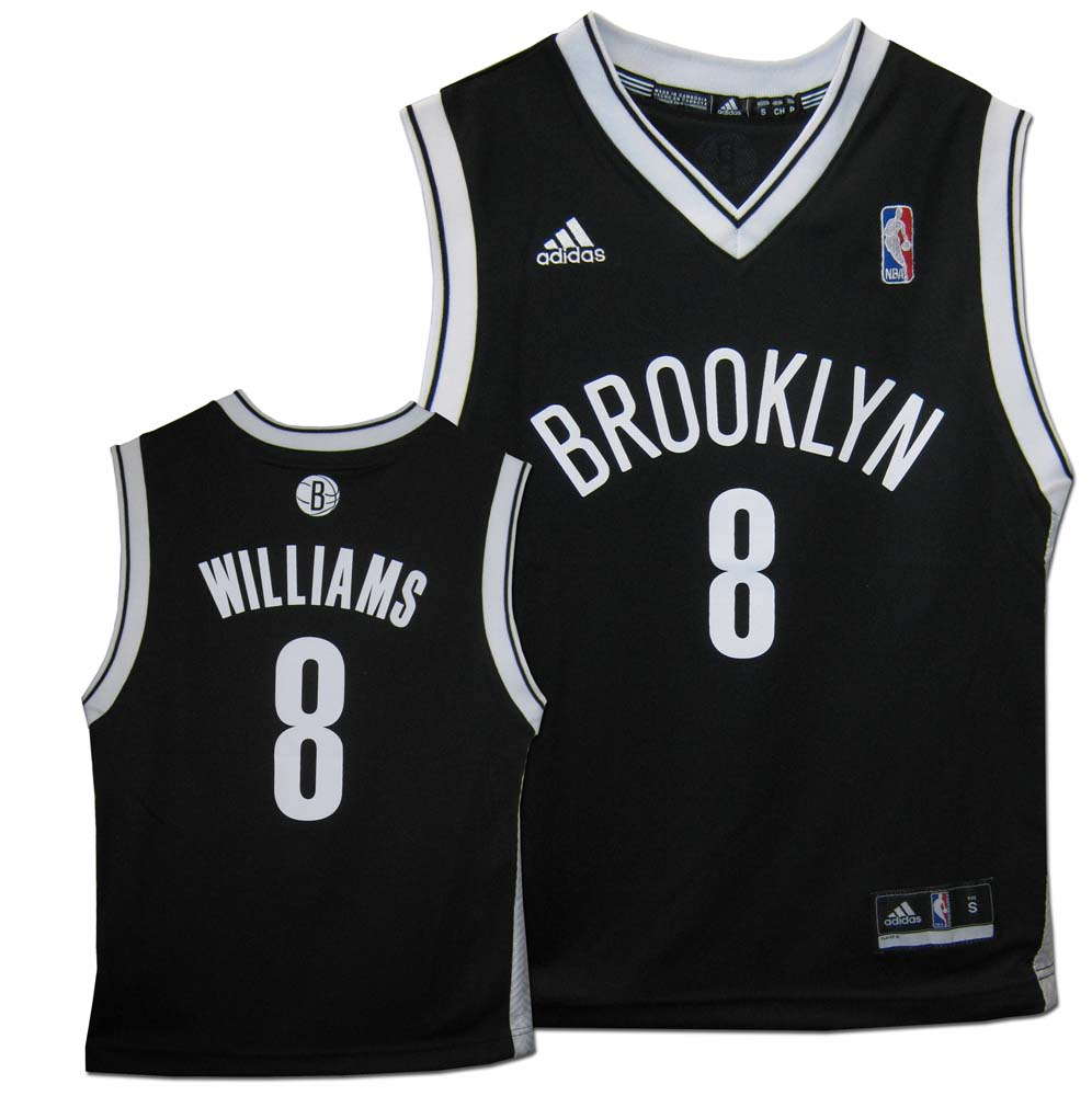 c949095d533 Deron Williams Brooklyn Nets  8 Youth Revolution 30 Replica Adidas NBA  Basketbal.