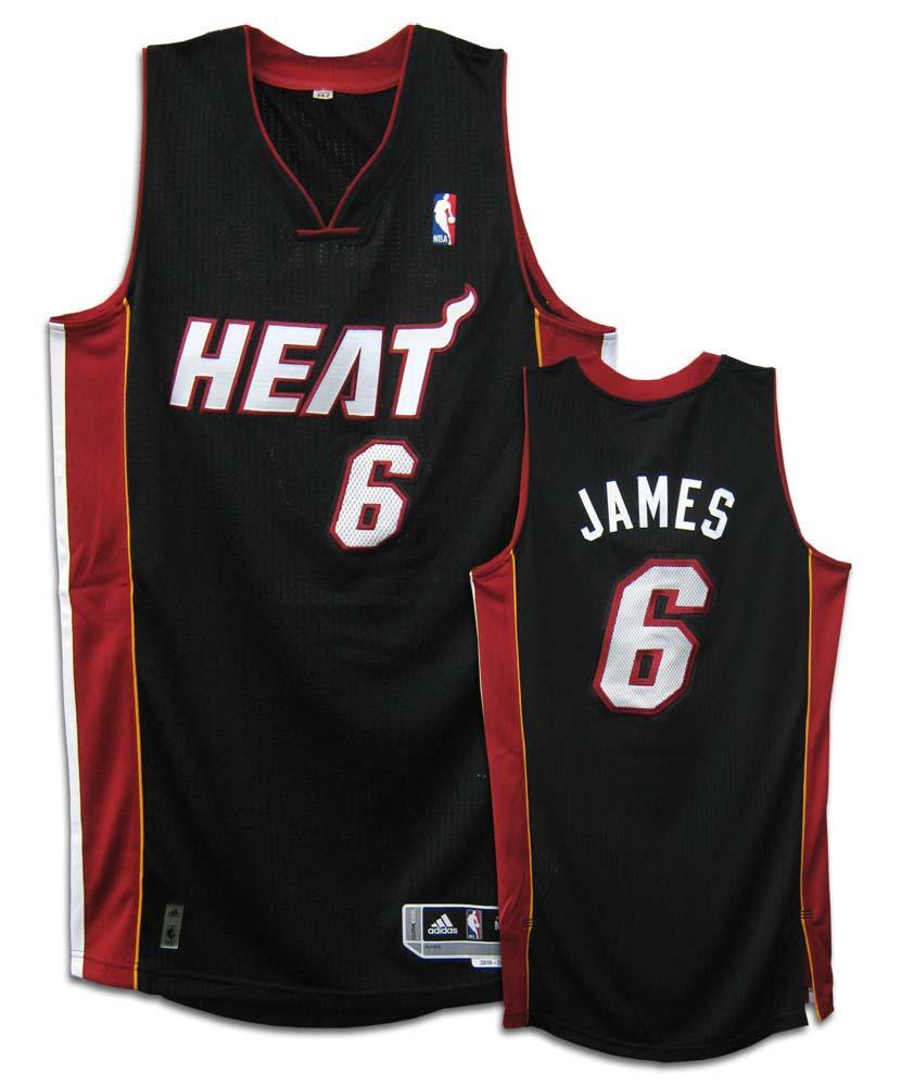 8a7a38278d05 LeBron James Miami Heat  6 Revolution 30 Authentic Adidas NBA Basketball  Jersey (Road Black