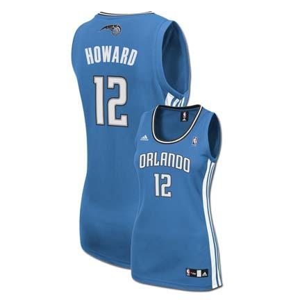 Dwight Howard Orlando Magic #12 Women's Replica Adidas NBA Basketball Jersey (Blue)