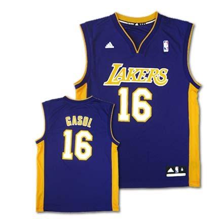 Pau Gasol Los Angeles Lakers #16 Revolution 30 Replica Adidas NBA Basketball Jersey (Purple)