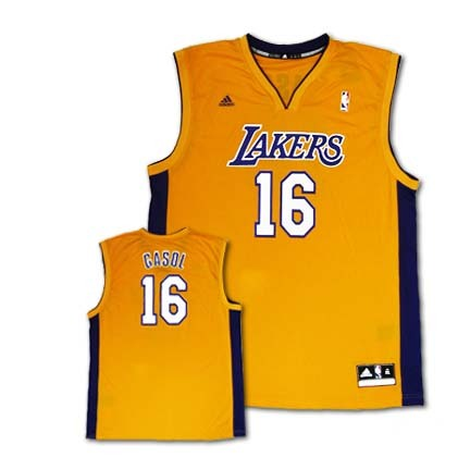 Pau Gasol Los Angeles Lakers #16 Revolution 30 Replica Adidas NBA Basketball Jersey (Gold)