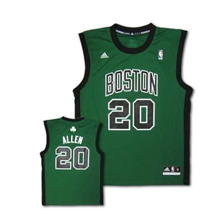 Ray Allen Boston Celtics #20 Revolution 30 Replica Adidas NBA Basketball Jersey (Alternate Green)